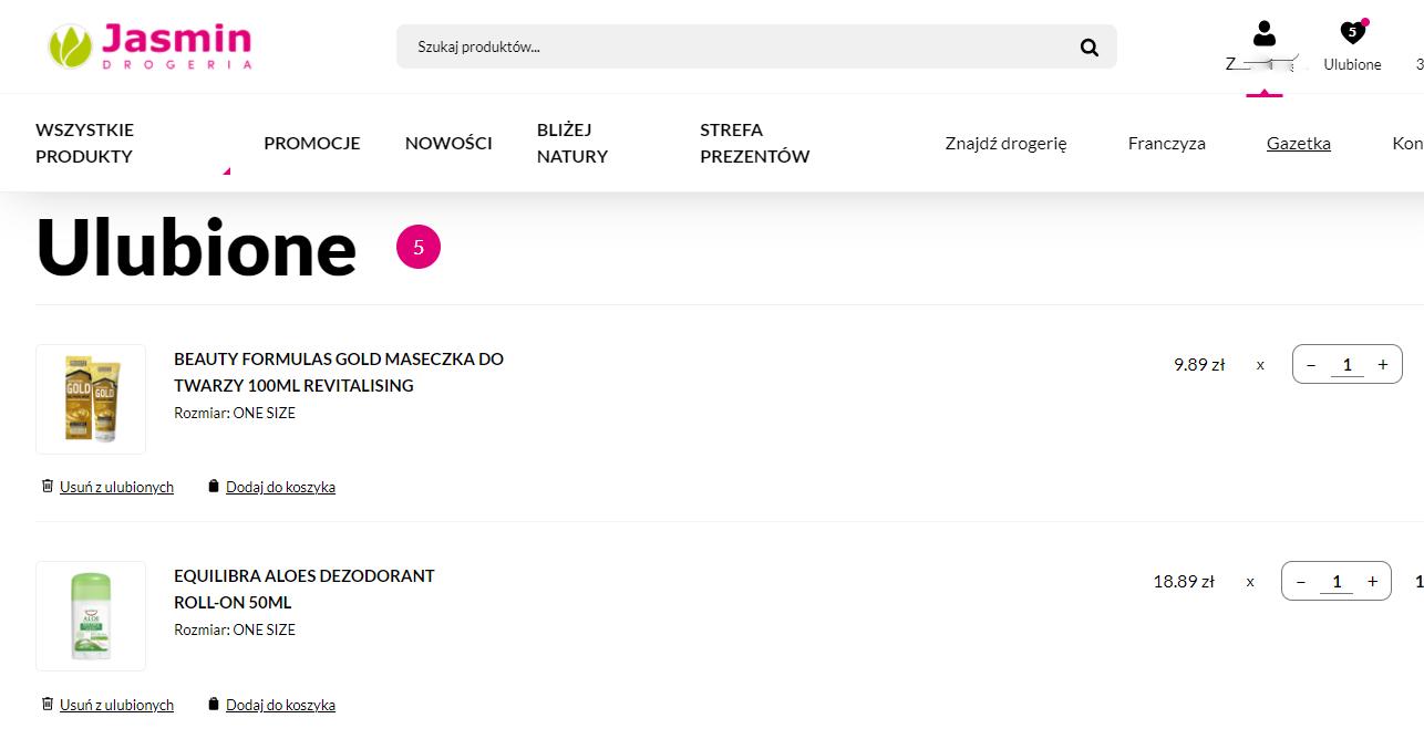 Drogerie Jasmin otworzyły e-sklep