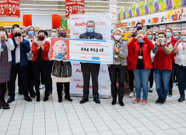 Ponad 224tys. zł zebranych podczas akcji zorganizowanej przez Auchan