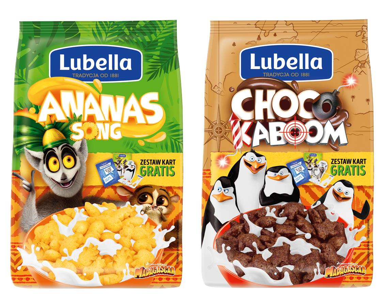 Płatki Lubella z licencją Madagaskar