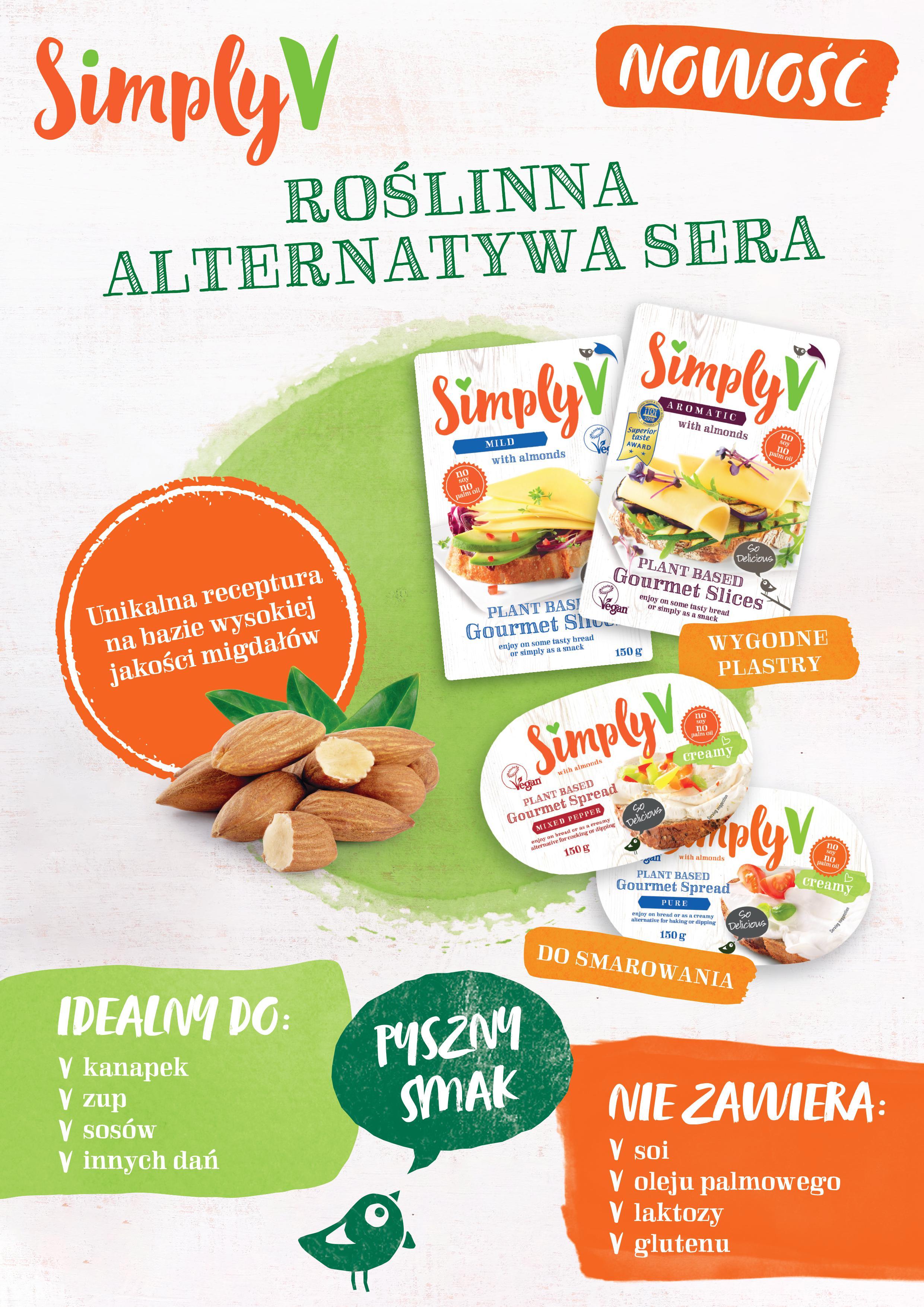 Hochland Polska wprowadza na rynek wegańską markę – SimplyV