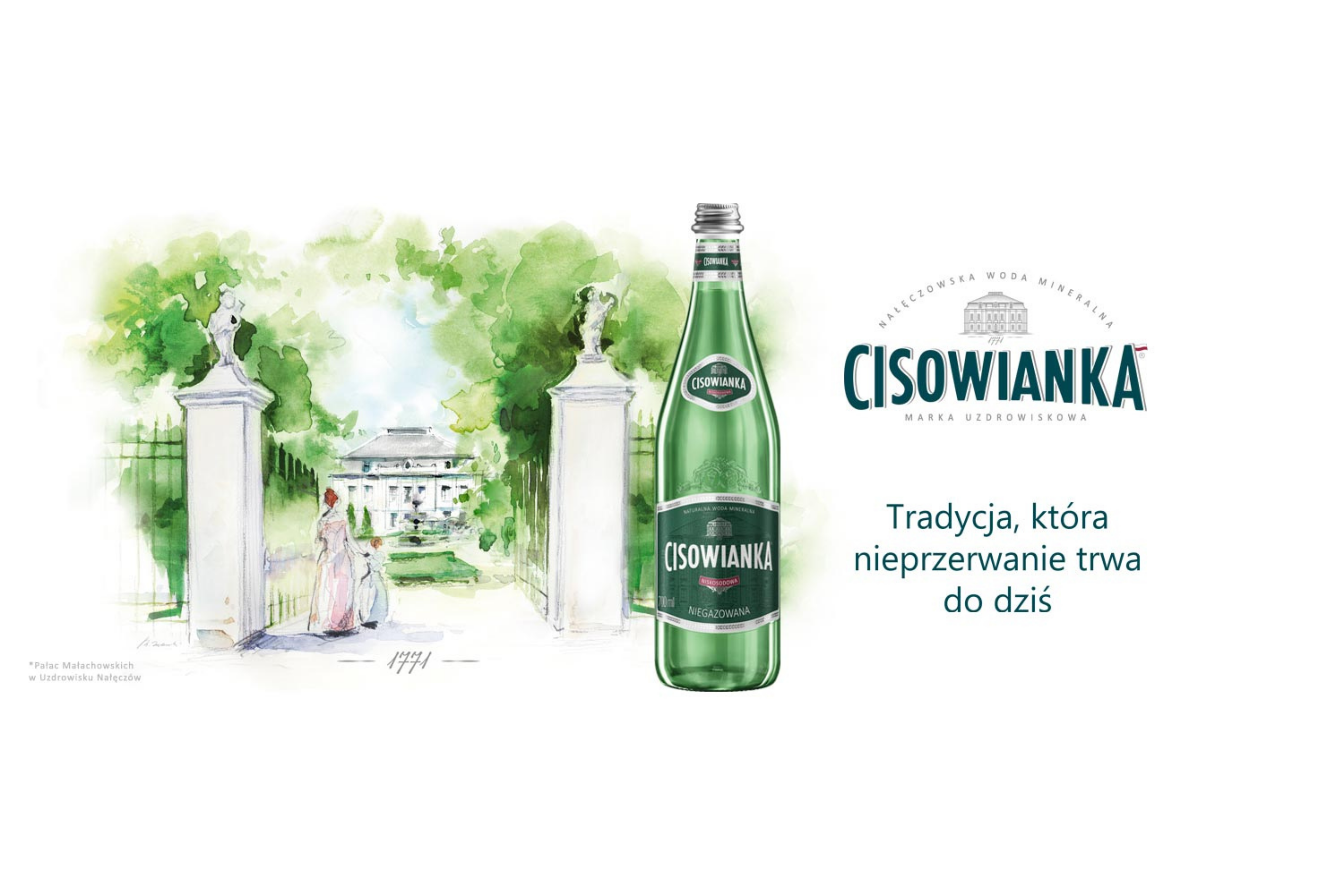 """Nowa kampania reklamowa """"Cisowianka – Tradycja, która nieprzerwanie trwa do dziś"""""""