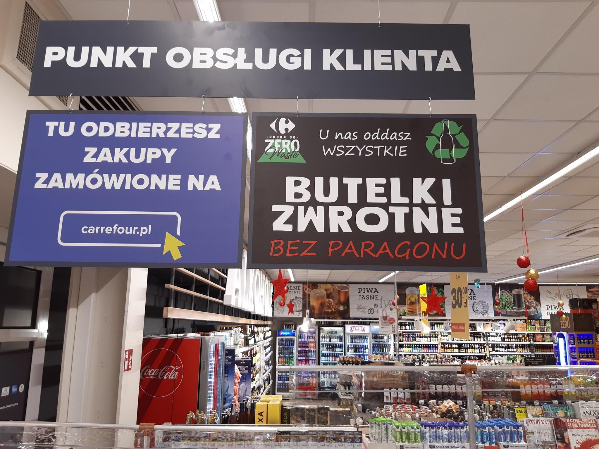 Carrefour rusza z odbiorem butelek zwrotnych bez paragonu