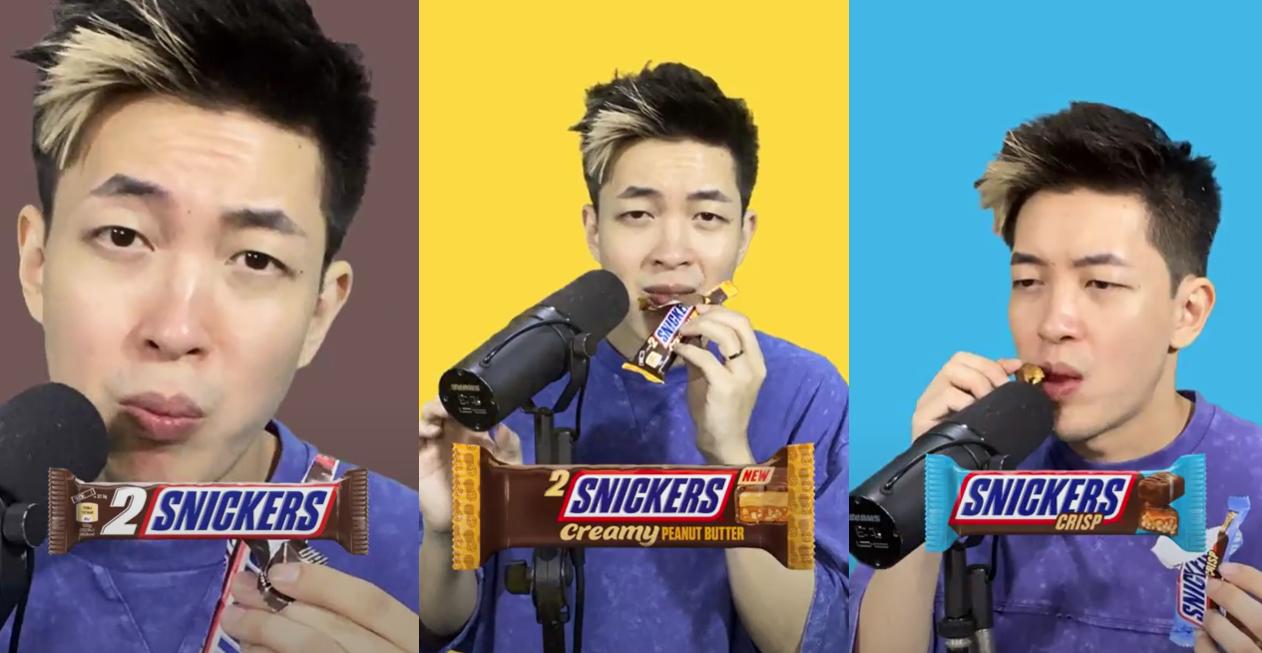 Dharni w kampanii marki Snickers