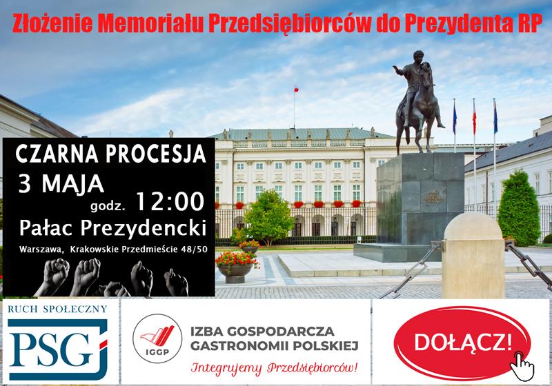 Czarna Procesja – Memoriał Pominiętych i Wykluczonych do Prezydenta 3 maja
