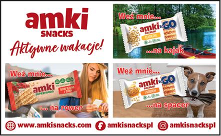 Marka Amki Snacks zachęca do aktywnych wakacji