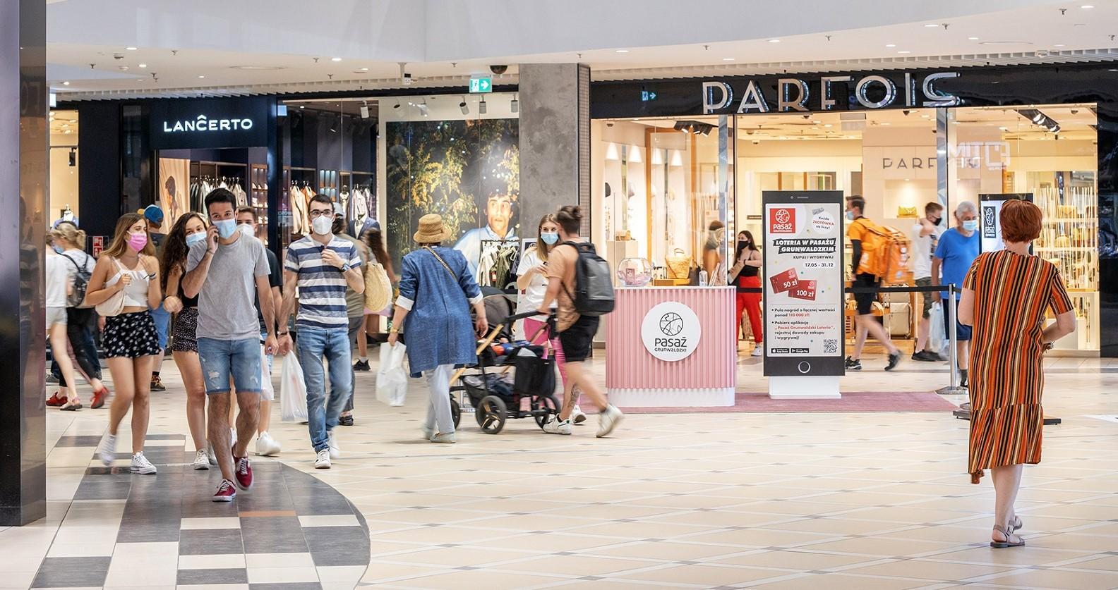 Wyniki odwiedzalności centrów handlowych w lipcu