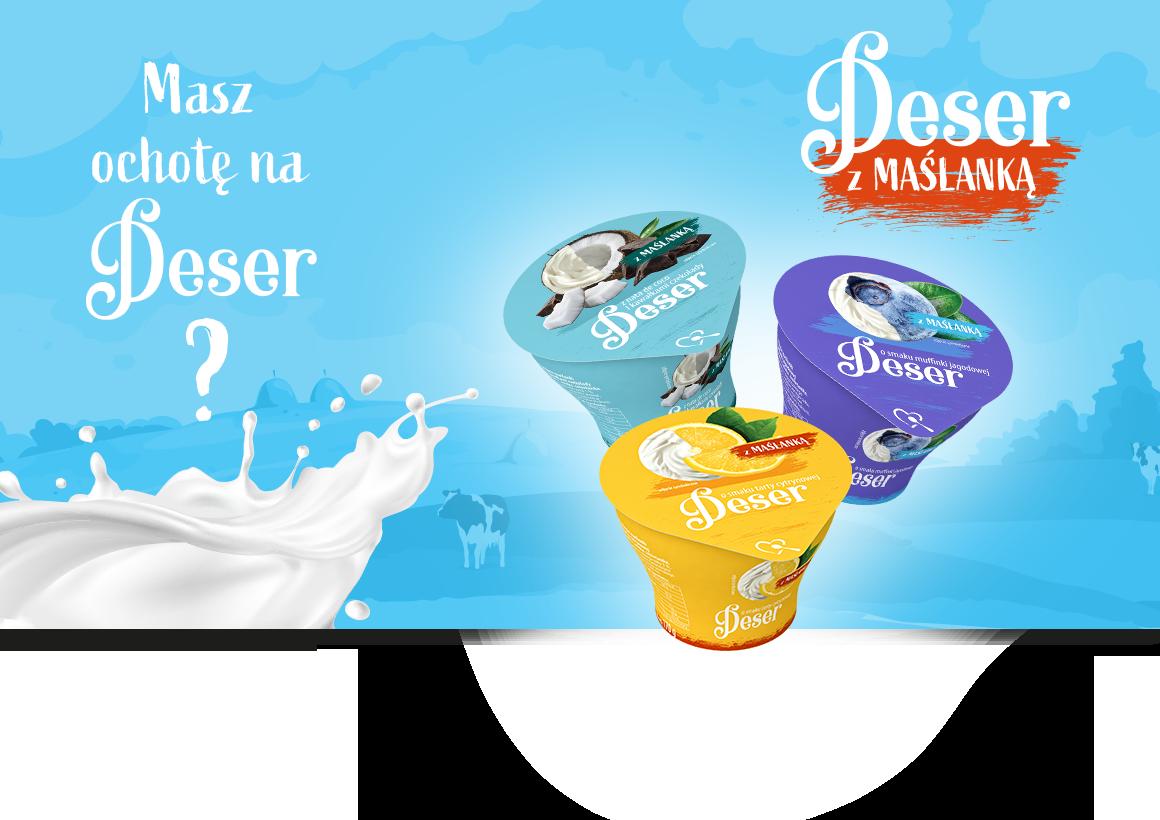 Deser z maślanką – pysznie apetyczna kampania nowości od Mlekpolu