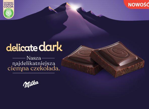 Nowa najdelikatniejsza czekolada Milka Delicate Dark