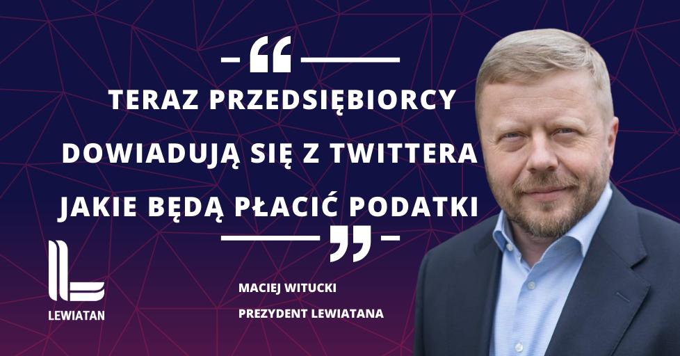 Konfederacja Lewiatan na temat podatków w Polskim Ładzie