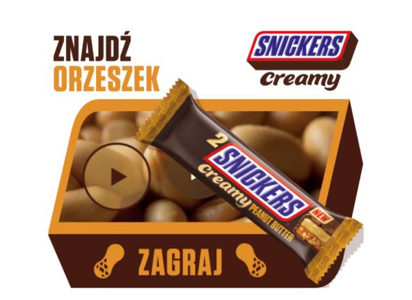 Znajdź orzeszek ze Snickers Creamy