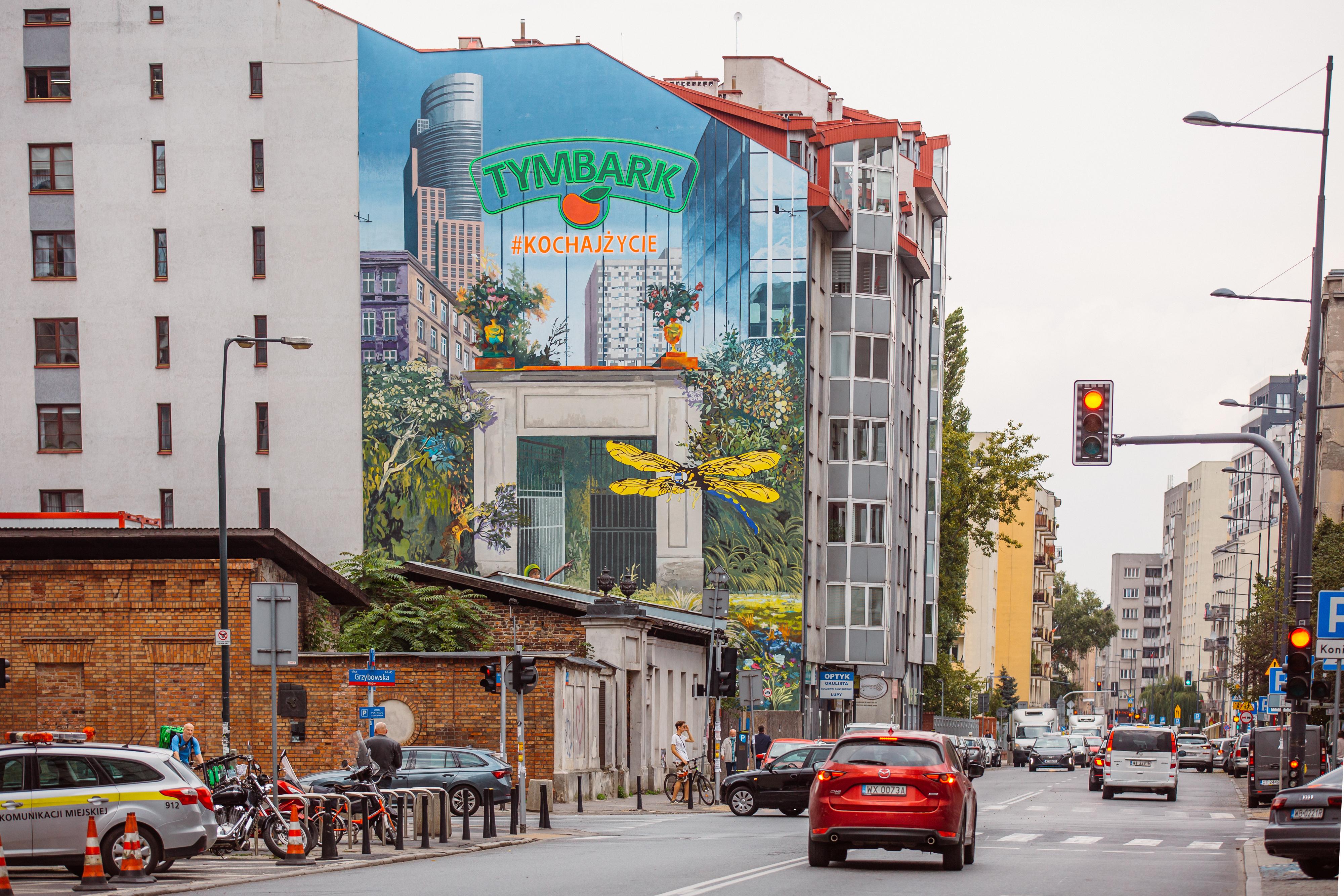 Tymbark prezentuje mural w sercu warszawskiej Woli