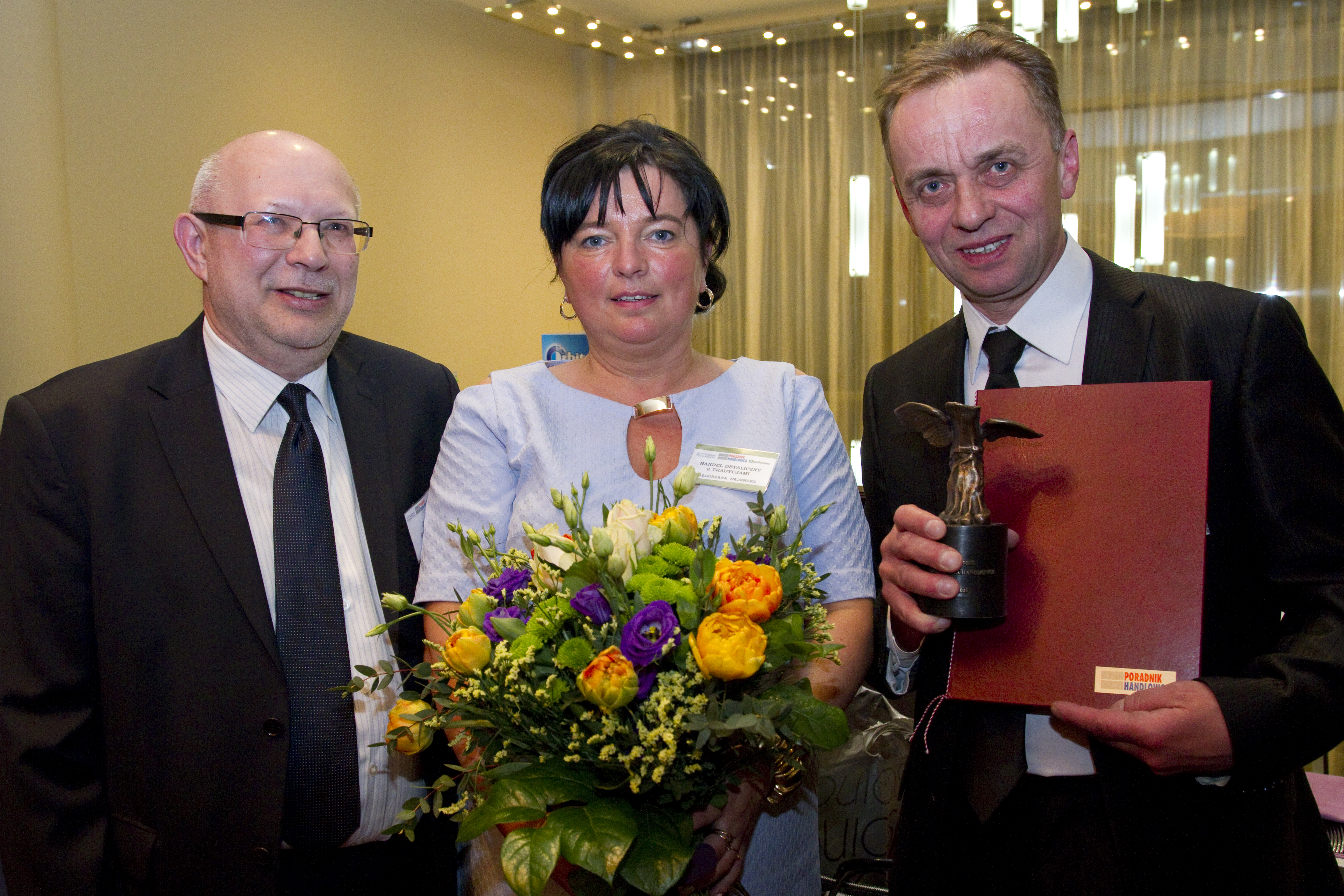 Małgorzata i Grzegorz Majewscy z nagrodą Hermesa w 2015 r. w kategorii Handel detaliczny z tradycjami