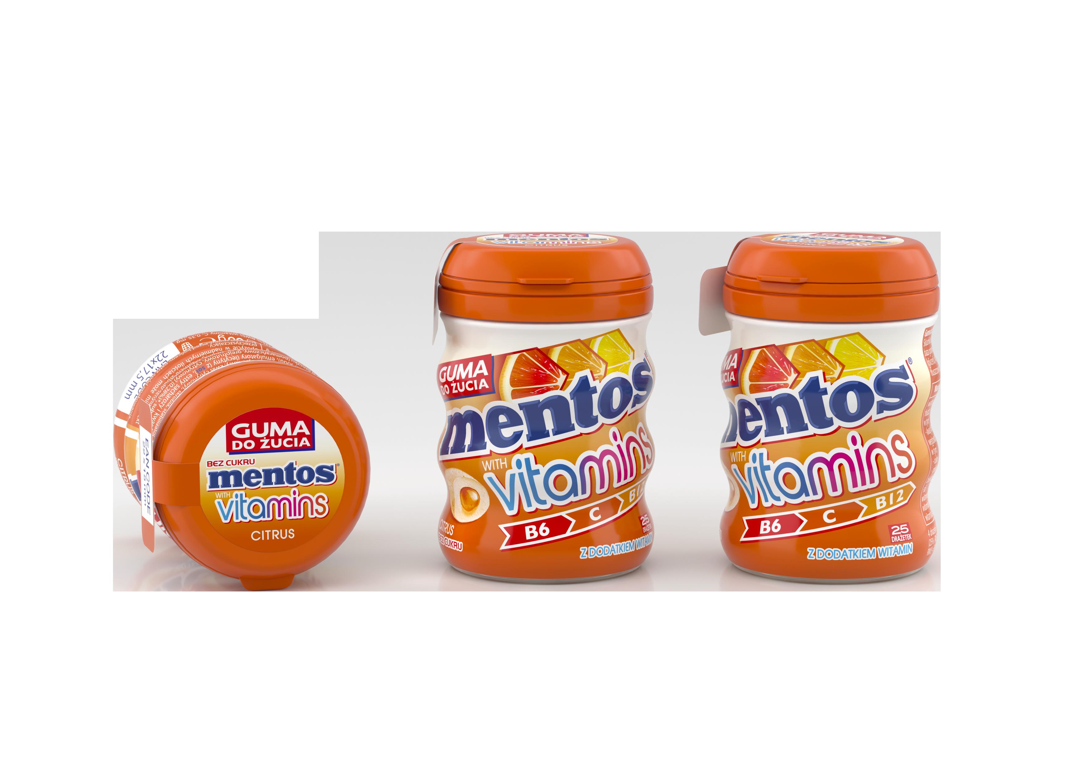 Cytrusowa nowość z witaminami od Mentos
