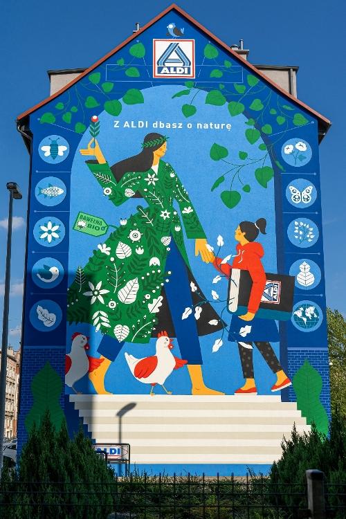 Aldi stworzył antysmogowy mural we Wrocławiu