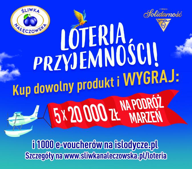 Przyjemnościowe nagrody do wygrania w Loterii Przyjemności marki Solidarność